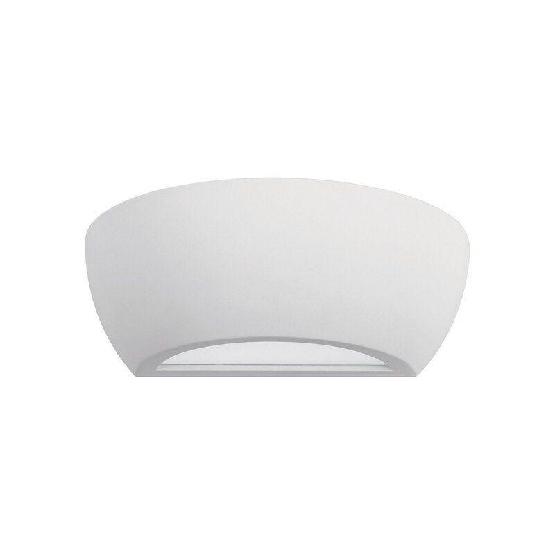 Applique moderno a 1 luce in gesso bianco luce alta e bassa collezione Tonic
