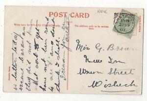 Thetford-Norfolk-15-SEP-1907-Carre-Cercle-cachet-112-C