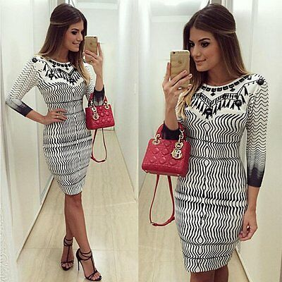 Sexy Women Bandage Bodycon Casual Long Sleeve Evening Party Cocktail Mini Dress