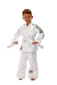 Ju-Sports-Judo-Anzug-Yoji-glatter-Stoff-Gr-80-150cm-Fuer-Kinder-Ab-ca-2J