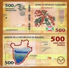 BURUNDI 500 FRANCS UNC  LATEST ISSUE # 305
