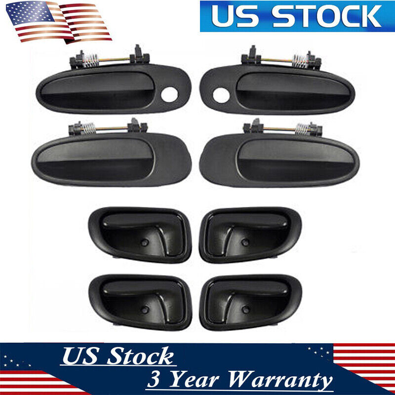 Exterior Outer Outside Door Handle Smooth Black Rear Left Driver Side fits Ford