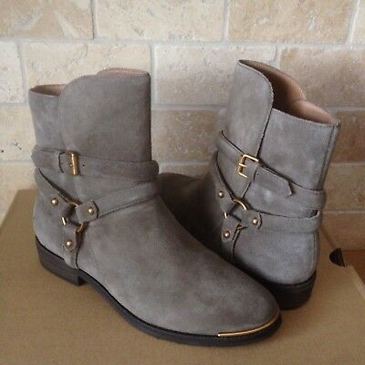 469a67289a3 UGG KELBY MOUSE SUEDE HARNESS ANKLE BUCKLE BOOTS BOOTIES SIZE US 10 WOMENS  | eBay