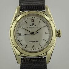 Rolex Oyster BubbleBack, Mens, 14K Gold,Vintage, Cream Dial, 3131