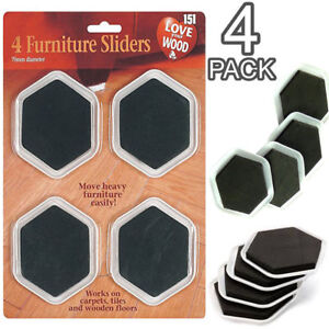 Image Is Loading 4 Pack Furniture Sliders Gliders Movers Carpet Wood