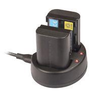 USB Dual Battery Charger For LP-E6 Canon EOS 6D 7D 5D Mark II III 70D LC-E6E UK