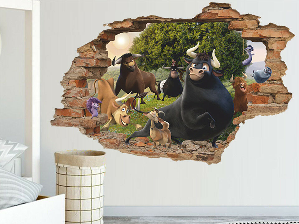 Ferdinand 3D Wall Decal, Wall Sticker, Removable Vinyl Sticker
