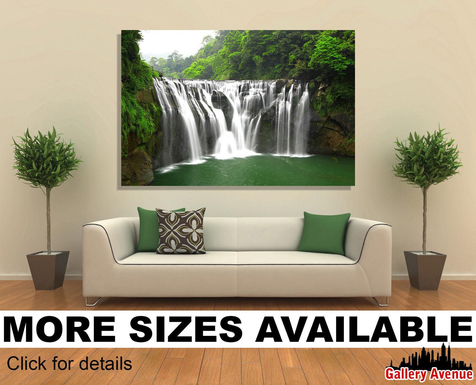 Wall Art Canvas Picture Print - Waterfalls in Shifen Taiwan 3.2