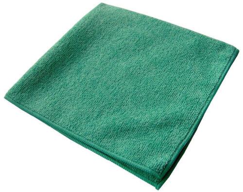 96 new green microfiber towels cleaning cloths bulk 12x12 janitorial glass wiper