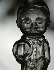 Vintage Empty GLASS FIGURAL COLOGNE BOTTLE Little Man Groom Tuxedo Kewpie Doll