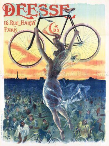 AD VINTAGE PALEOLOGUE DEESSE BICYCLES PARIS ART PRINT POSTER PICTURE LF223