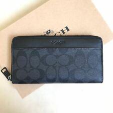 NWT Coach F25517 Men's Accordion Signature PVC Leather Black//Oxblood Wallet $250