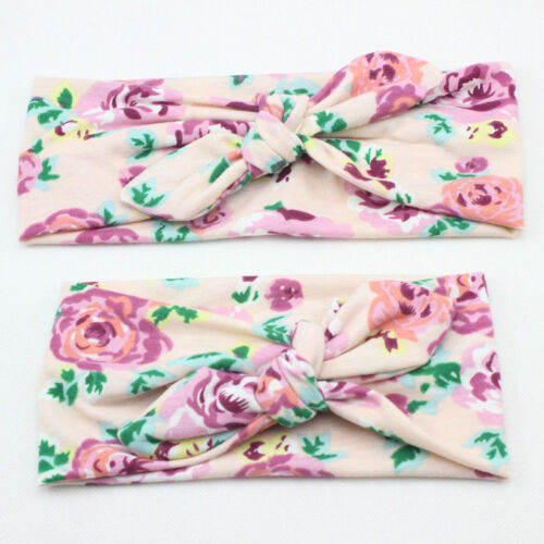12 Style Baby Girl Flower Bow Hair Band Turban Knot Rabbit Headband Headwrap Lot