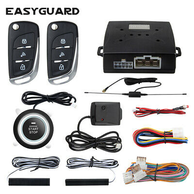 EASYGUARD PKE car alarm system anti-theft push button start remote starter kit