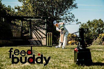 Feed Buddy Cricket Ball Delivery Machine /& 12 x Yellow Light Balls @ £120 !