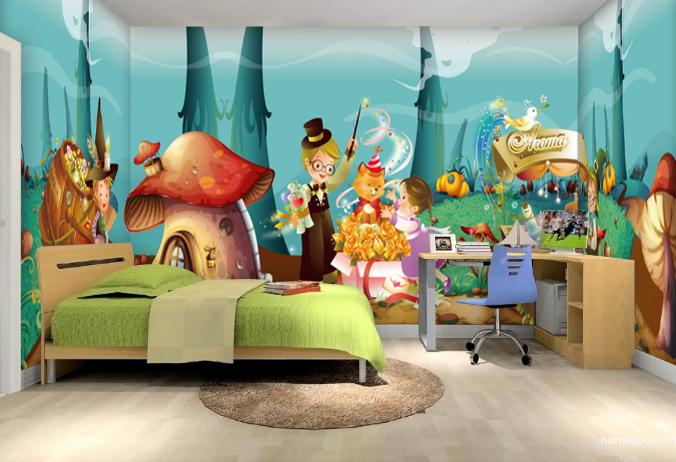 3D Dschungel Kind Karikatur 87 Tapete Wandgemälde Tapeten Bild Familie DE Summer