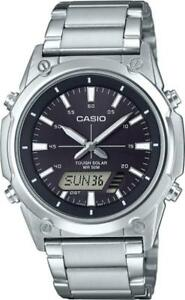 NEWEST-Casio-Tough-Solar-AMWs820D-1A-Men-039-s-Watch-Digital-Analog-Stainless-Steel