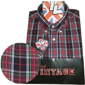 Warrior-UK-England-Button-Down-Shirt-Wardour-Shirt-Slim-Fit-SKINHEAD-MOD