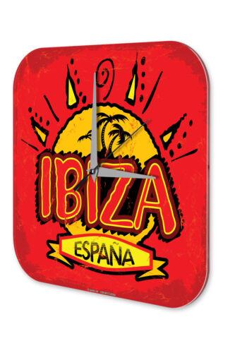 Wanduhr Weltenbummler  Ibiza Spanien Acryl Dekouhr Nostalgie