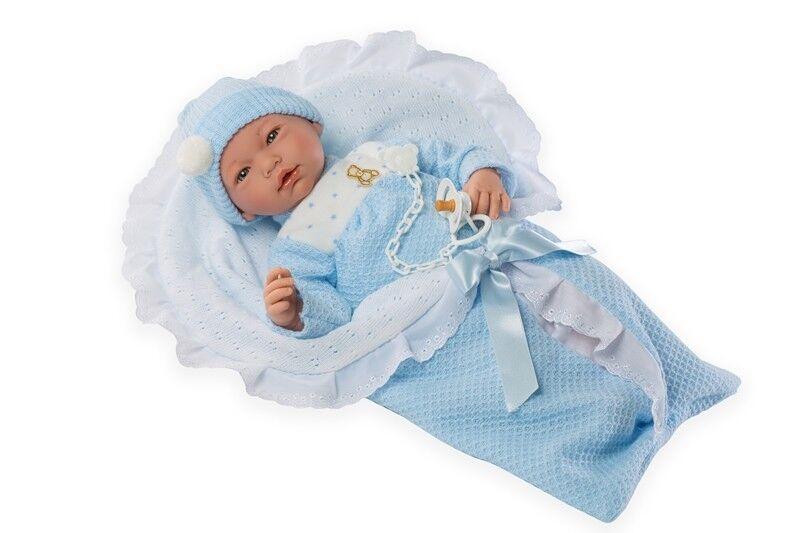 Lebensechte Puppe ADRIAN 46cm Reborn Babypuppe Sammlerpuppe Vinyl Spielzeug Kind