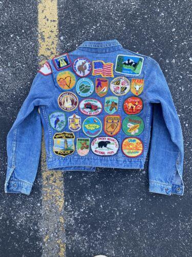 Vintage Patched Denim Jacket