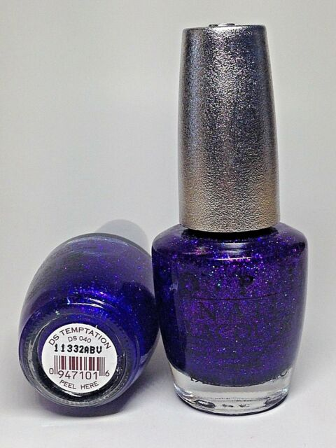 Opi Nail Polish Designer Series Blue Glitter Temptation Ds40 Ebay