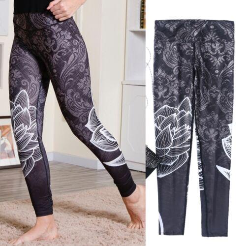 High Waist Elastic Women Fitness Legging Yoga Workout Pants Push Up Trouser