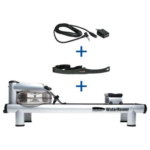 Waterrower Gouvernail périphérique m1 HiRise, incl. s4 Moniteur, fréquence cardiaque destinataire et br