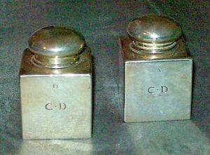 TIFFANY-amp-Co-coppia-bocce-argento-sterling-925-x-inchiostro-calamaio-ink-stand