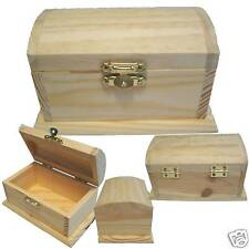 NEW Wood Pirate Treasure Chest Storage/Coin/Money/Stash Trinket Box + FREE GIFT