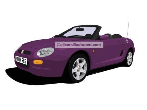 MG MGF METAL KEY RING CHOOSE YOUR CAR COLOUR