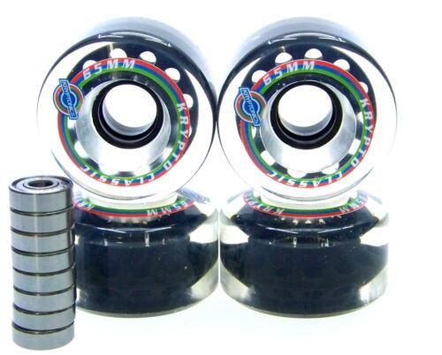 LONGBOARD rôle KRYPTONICS Classic 65mm//78a abec roulements set de rechange rôle Clear