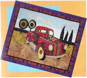 Papa-039-s-Pickup-fun-applique-amp-pieced-truck-wall-quilt-PATTERN-BJ-Designs