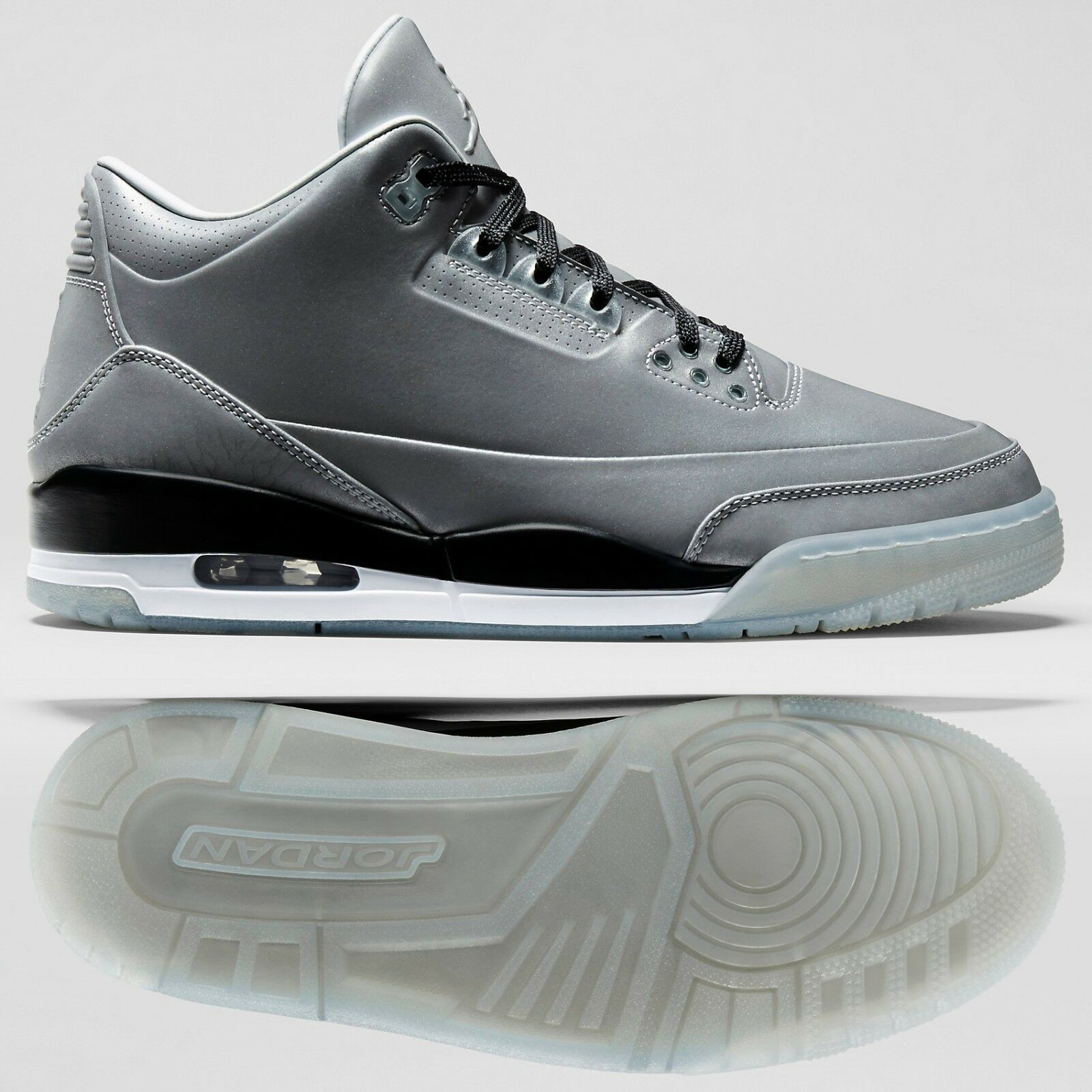 check out af482 8952e ... denmark nike air jordan 5lab3 631603 003 reflejan plata jordan negro  blanco 3m hombre shoes sz