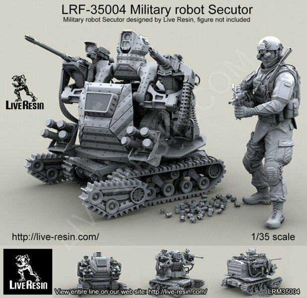 Live Resin M35004 1 35 Military Robot Secutor II (1) (Figure Not Included)