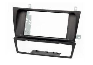 CARAV-11-125-Autoradio-fascia-Radioblende-fuer-BMW-3er-E90-doppel-2-DIN-schwarz