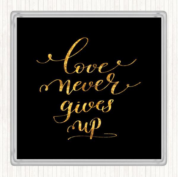100% Vero Black Gold Amore Non Si Arrende Preventivo Bevande Mat Coaster