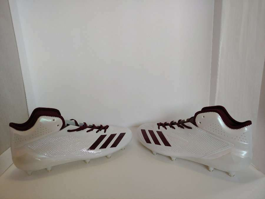NEW Without Box Men's White Adidas Adizero Football Cleats BW1088 Size 13  FC