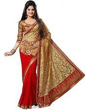 Indian Ethnic Chiffon Multi-Color Printed Saree Sari D.No SAR2204