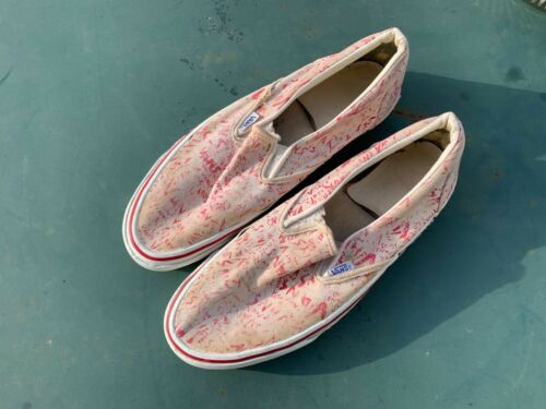vintage Vans made in USA Skateboard shoes 80s old