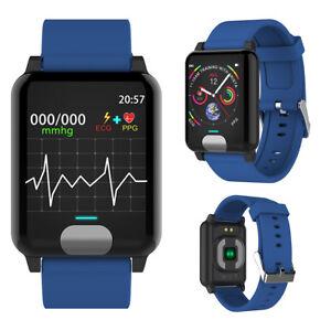 BLUE-E04-ECG-Smart-Wrist-Watch-PPG-Tracker-Blood-Pressure-3D-UI-Heart-Rate-Watch