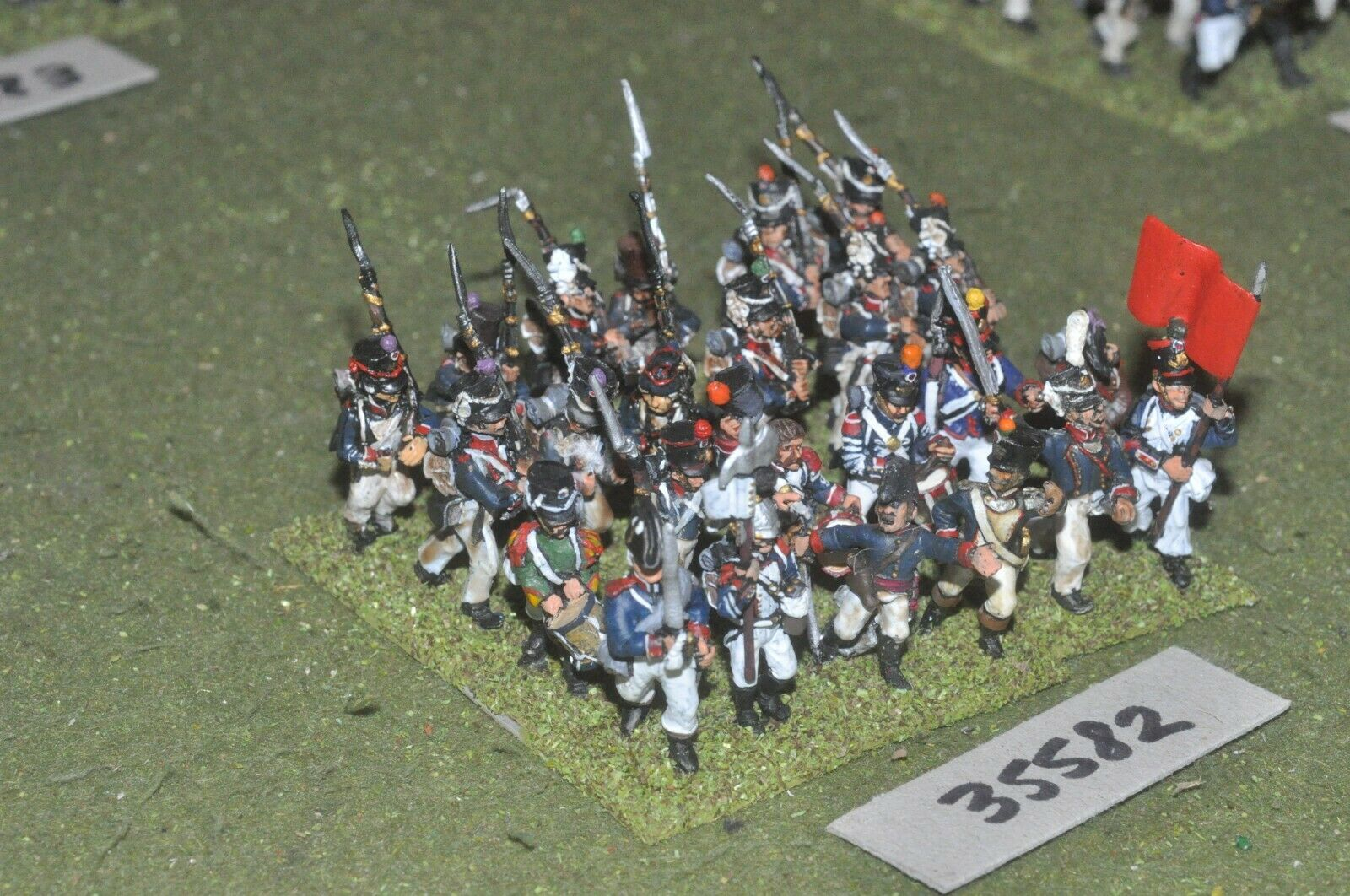 25mm napoleonic   french - regiment 24 figures - inf (35582)