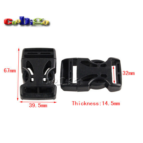 "5//8/""~2/'/' Plastic Side Release Adjustable Buckle Backpack Strap Luggage Webbing"