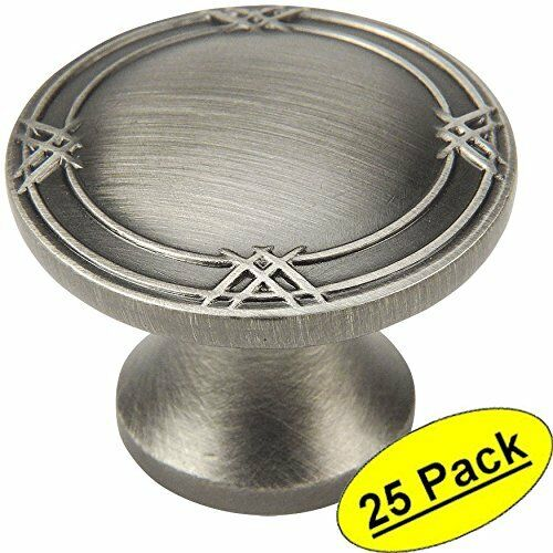 *25 Pack* Cosmas Cabinet Hardware Antique Silver Round Cabinet Knobs #9462AS