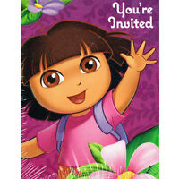 Dora The Explorer Flower Adventure Invites & Thank You Birthday Party Supplies