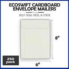 250 6x8 Ecoswift Brand Self Seal Cardboard Cddvd Envelope Mailers 6 X 8