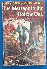 NANCY DREW The Message in the Hollow Oak by Carolyn Keene (c) 1935 G&D HC