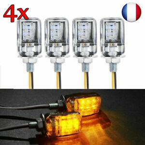 12V-LED-Ambre-Clignotant-Universel-Moto-Mini-Petit-Des-indicateurs-Tour-signaux