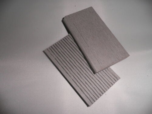 SAMPLE of Skirting for Decking Wood Plastic Composite Light Grey 55mm x 10mm