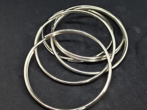 brass or stainless 11mm split//key rings//holders sprung steel jailers rings